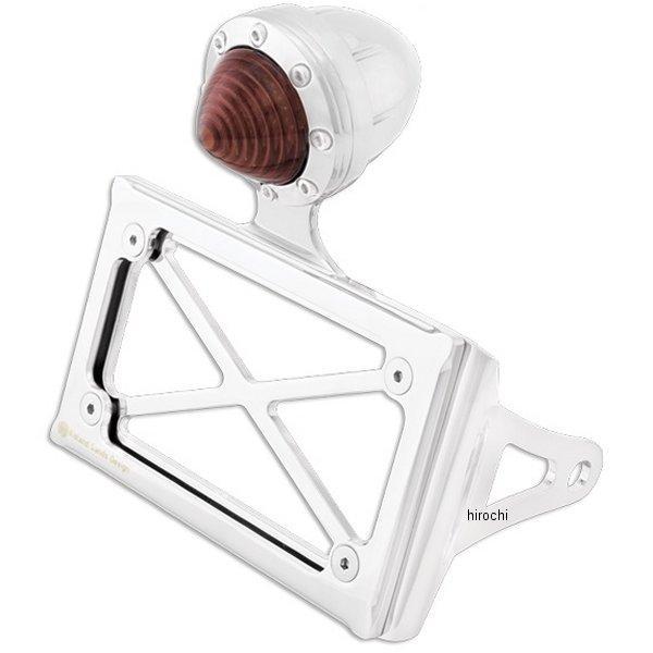 【USA在庫あり】 ローランドサンズデザイン RSD LEDテールランプ付きナンバープレート サイド横マウント 86年以降 XL クローム 0215-2007-CH HD店