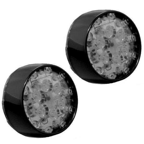 【USA在庫あり】 クリアキン Kuryakyn LED ブレットターンシグナル用(左右ペア) リア 赤/黒/スモークレンズ 5460 HD店