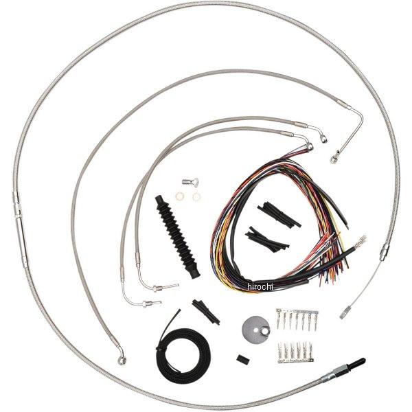 【USA在庫あり】 LAチョッパーズ LA Choppers ケーブルキット ステンレス 14年以降 FLHR 純正ハンドル用 0610-1196 HD