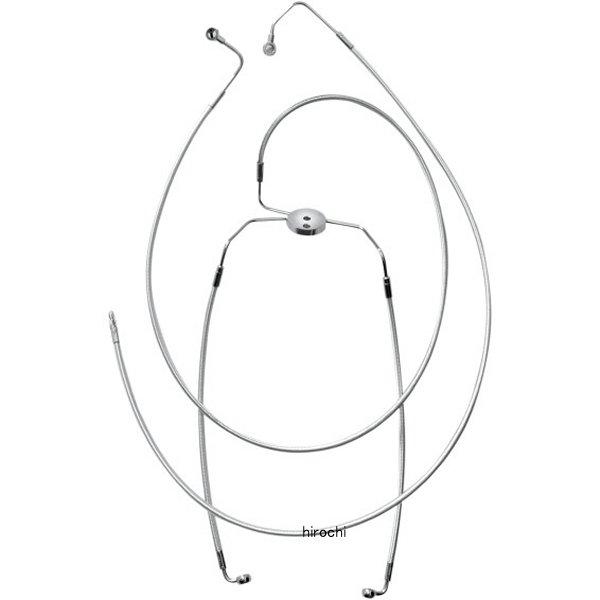 【USA在庫あり】 マグナム MAGNUM フロント ブレーキライン 09年-13年 FLH(デュアルディスク) ロワー クローム 1741-2598 HD