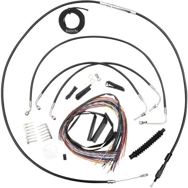 【USA在庫あり】 LAチョッパーズ LA Choppers ケーブルキット 黒 08年-13年 ツーリング ビーチバー用 0610-1187 HD
