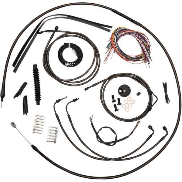 【USA在庫あり】 LAチョッパーズ LA Choppers ケーブルキット 黒/黒 08年-13年 FLTR ABS付き 12-14インチ エイプバー用 0610-1455 HD店
