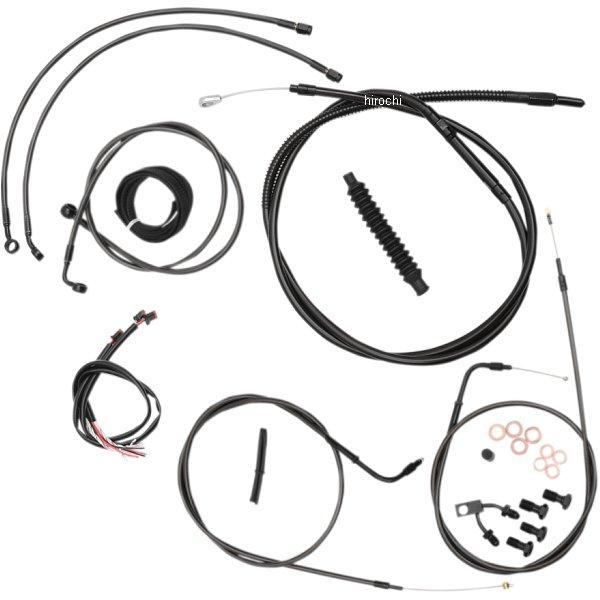 【USA在庫あり】 LAチョッパーズ LA Choppers ケーブルキット 黒/黒 11年-14年 ソフテイル ABS付き 純正ハンドル用 0610-1500 HD
