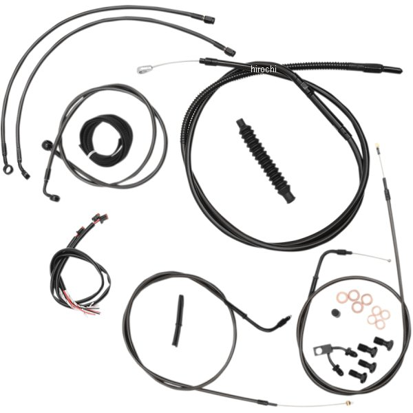 【USA在庫あり】 LAチョッパーズ LA Choppers ケーブルキット 黒/黒 11年-14年 ソフテイル ABS付き 12-14インチ エイプバー用 0610-1503 HD店
