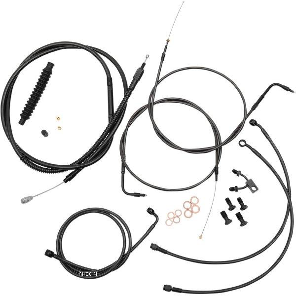 【USA在庫あり】 LAチョッパーズ LA Choppers ケーブルキット 黒/黒 11年-14年 ソフテイル 15-17インチ エイプバー用 0610-1605 HD店