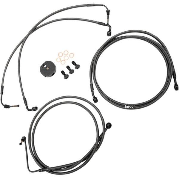 【USA在庫あり】 LAチョッパーズ LA Choppers ブレーキホース 黒/黒 09年-13年 ツーリング ABS付き 15-17インチ エイプバー用 1741-4420 HD店