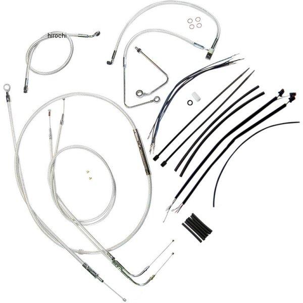 【USA在庫あり】 マグナム MAGNUM ケーブル キット クローム 11年-14年 FLSTC、FLSTF、FLSTN、FLS ABS付き 18-20インチ エイプバー用 0610-0899 HD店