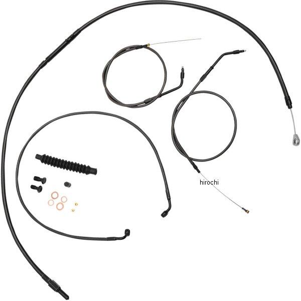 【USA在庫あり】 LAチョッパーズ LA Choppers ケーブルキット 黒/黒 カフェスタイル 07年-14年 XL 0610-1627 HD