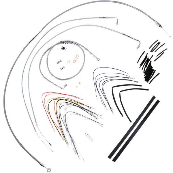 【USA在庫あり】 バーリーブランド Burly Brand ケーブル キット ステンレス 07年-10年 FLSTC、FLSTF、FLSTN 14インチ エイプバー用 0610-0711 HD店