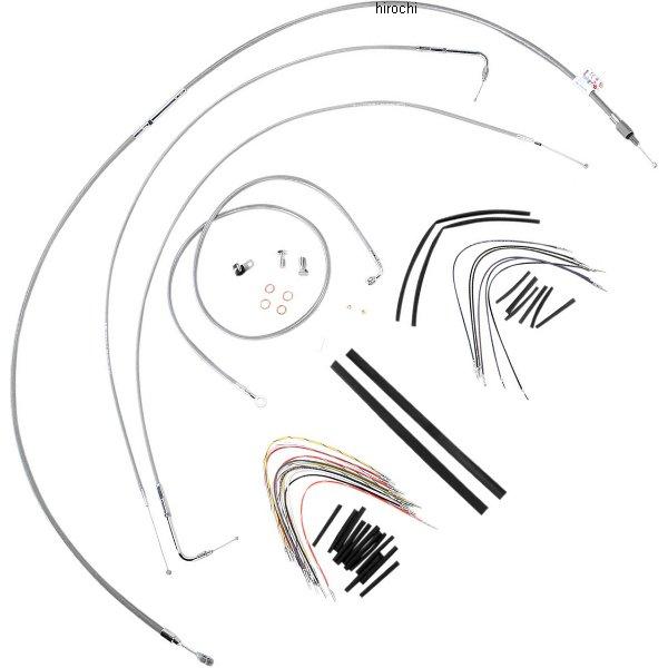 【USA在庫あり】 バーリーブランド Burly Brand ケーブル キット ステンレス 00年-06年 FXST、FXSTB、FXSTD 14インチ エイプバー用 0610-0712 HD店