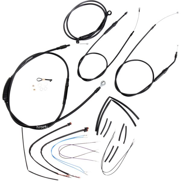【USA在庫あり】 バーリーブランド Burly Brand ケーブル キット 黒 12年-13年 FXDB、FXDC、FXDWG 12インチ エイプバー用 0610-0752 HD店