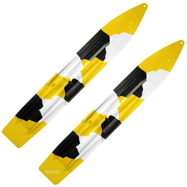 【USA在庫あり】 Slydog Skis パウダーハウンド スキー 黄/黒/白 (左右ペア) 4602-0079 HD店
