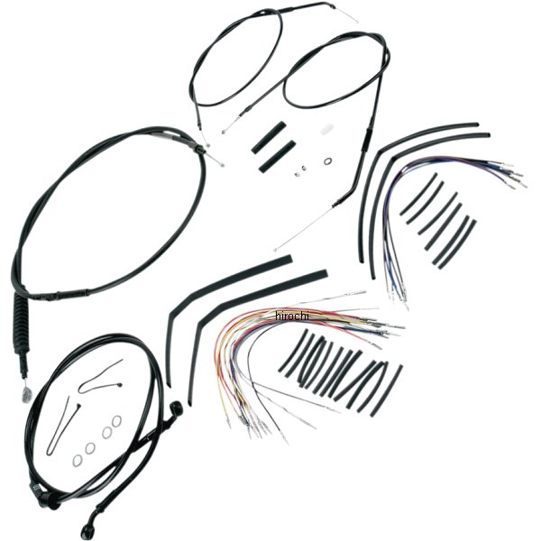 【USA在庫あり】 バーリーブランド 07年-13年 14インチ Burly Brand 773007 ケーブル キット 黒 07年-13年 XL 14インチ エイプバー用 773007 HD店, AWORKS:fe699f12 --- officewill.xsrv.jp