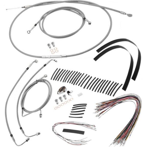 【USA在庫あり】 バーリーブランド Burly Brand ケーブル キット ステンレス 08年-13年 FLHR、FLTR ABS付き 14インチ エイプバー用 773084 HD店