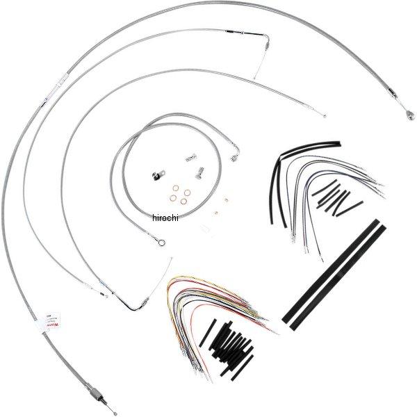 【USA在庫あり】 バーリーブランド Burly Brand ケーブル キット ステンレス 00年-06年 FLSTC、FLSTF 16インチ エイプバー用 773109 HD店
