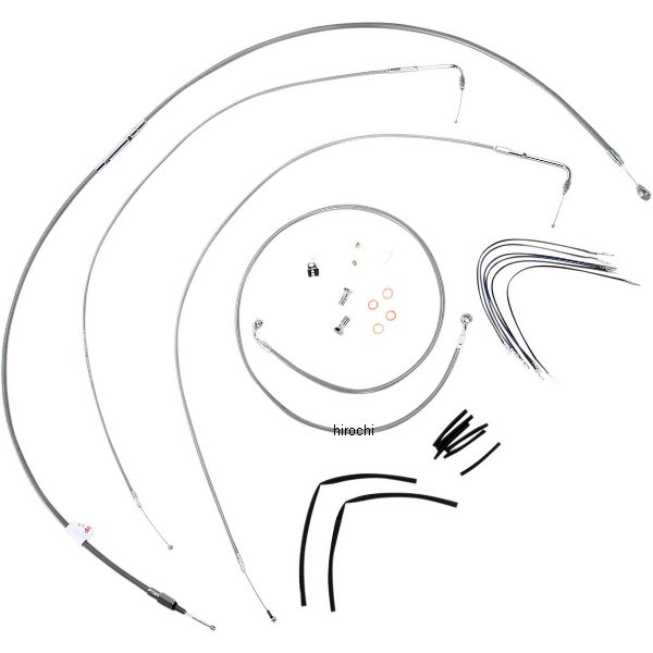 【USA在庫あり】 バーリーブランド Burly Brand ケーブル キット ステンレス 11年-13年 FXS、13年 FXSB 18インチ エイプバー用 773113 HD店