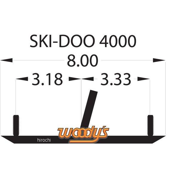【USA在庫あり】 ウッディーズ Woody's ランナー ミニ 4インチ(102mm) 60°Ski-Doo (左右ペア) 4612-0231 HD店
