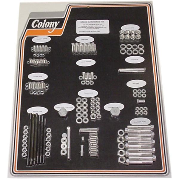 【USA在庫あり】 CAD コロニー Colony Machine ハードウェア キット 48年-57年 EL、FL シルバー 2401-0453 HD