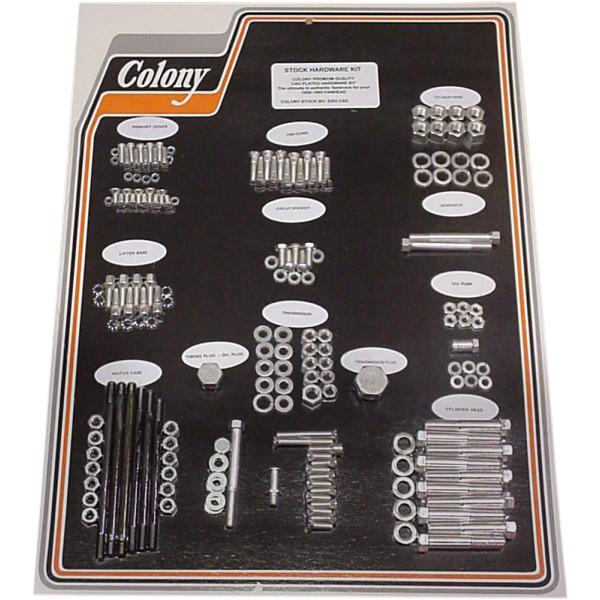 【USA在庫あり】 CAD コロニー Colony Machine ハードウェア キット 58年-65年 FL、FLH シルバー 2401-0454 HD
