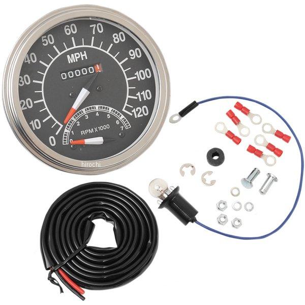【USA在庫あり】 DRAG 5インチ ダッシュマウント スピード メーター、タコメーター マイル表示 65年-83年 FL、FX DS-243871 HD