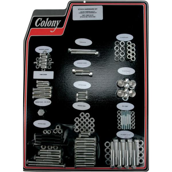 【USA在庫あり】 CAD コロニー Colony Machine エンジン ハードウェア キット 58年-66年 XLCH900 シルバー 2401-0457 HD