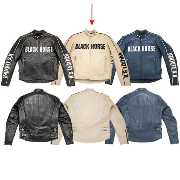 1047 カドヤ KADOYA レザージャケット BHR-CLR アイボリー/黒 3Lサイズ 1047-1/IVBK3L HD店