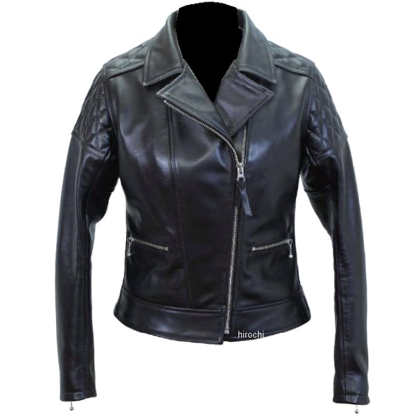 1171 カドヤ KADOYA レザージャケット ダブル KL-PTD 女性用 黒 Mサイズ 4573208945283 HD店