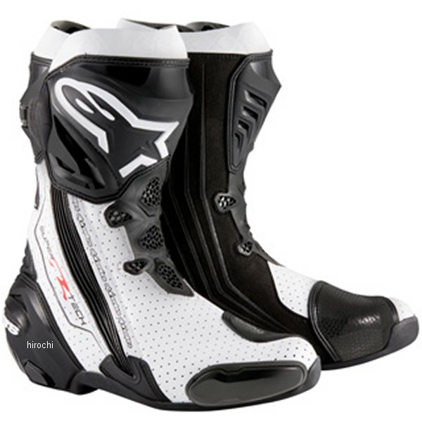 【メーカー在庫あり】 アルパインスターズ Alpinestars ブーツ Supertech-R 0015 黒/白 42サイズ 26.5cm 8051194746351 HD店