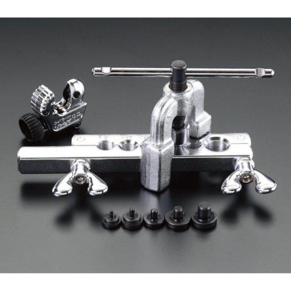 【メーカー在庫あり】 エスコ(ESCO) 4 - 14mm ダブルフレアーツールキット 000012026256 HD