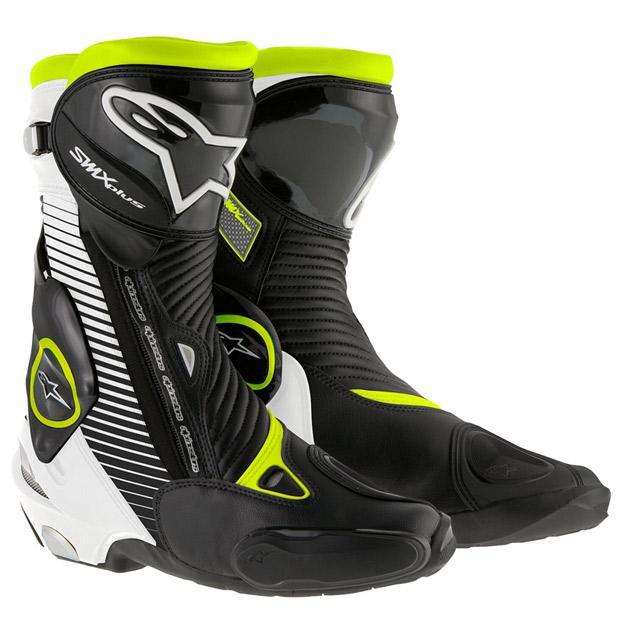 アルパインスターズ Alpinestars ブーツ SMX PLUS 1015 黒/白/蛍光イエロー 41サイズ 26.0cm 8051194746931 HD店