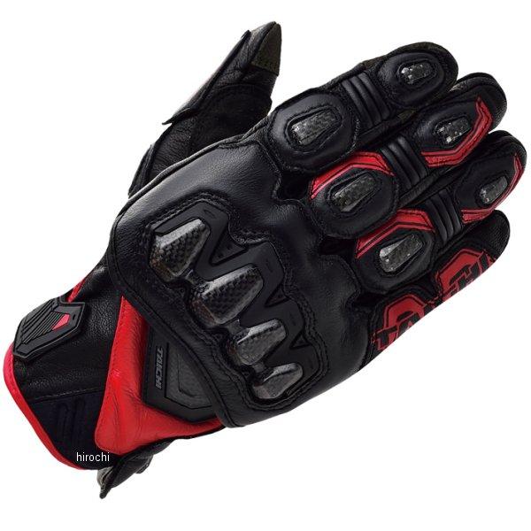 【メーカー在庫あり】 RST422 RSタイチ ハイプロテクション レザーグローブ 黒/赤 XLサイズ RST422BK02XL HD店