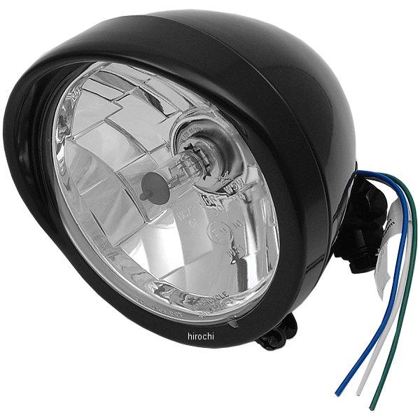 【USA在庫あり】 DRAG ヘッドライト 5.75インチ H4 バイザー クリアレンズ/グロスブラック 2001-0551 HD店