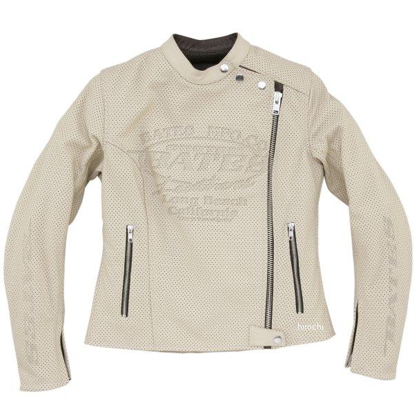 ベイツ BATES 2WAY パンチドホールレザージャケット レディース アイボリー Lサイズ BAJ-L146 HD店