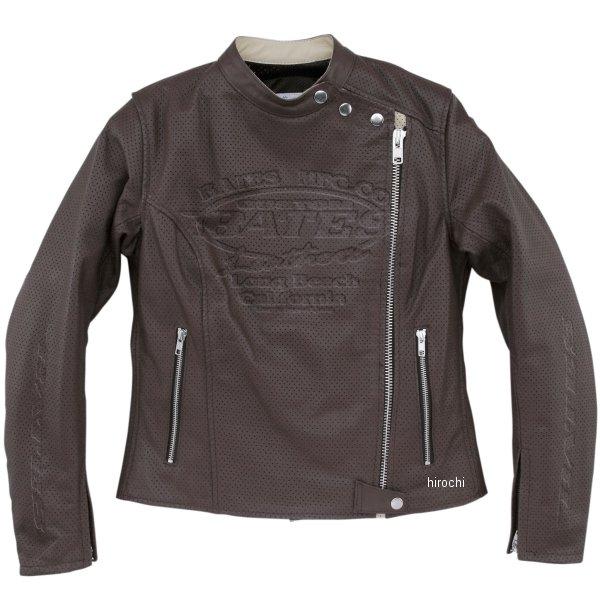 ベイツ BATES 2WAY パンチドホールレザージャケット レディース ブラウン Lサイズ BAJ-L146 HD店