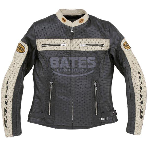 ベイツ BATES 2WAY パンチドホールレザージャケット レディース 黒 Lサイズ BAJ-L147 HD店