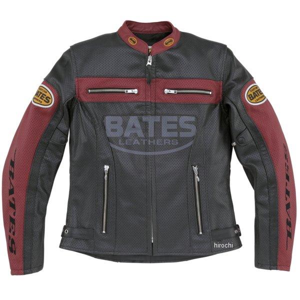 ベイツ BATES 2WAY パンチドホールレザージャケット レディース 赤 Mサイズ BAJ-L147 HD店