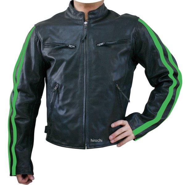 モトフィールド MOTO FIELD パンチングレザージャケット ライン グリーンライン 3Lサイズ MF-LJ009P HD店