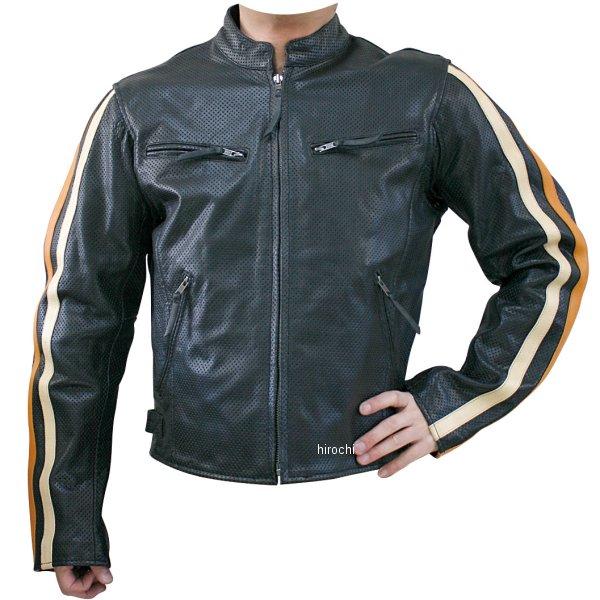 モトフィールド MOTO FIELD パンチングレザージャケット ライン アイボリー/オレンジライン LLサイズ MF-LJ009P HD店