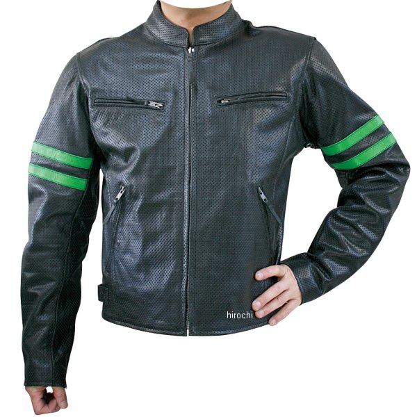 モトフィールド MOTO FIELD パンチングレザージャケット ライン グリーンライン 3Lサイズ MF-LJ010P HD店