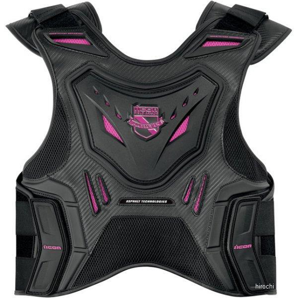 アイコン ICON ベストアーマー STRYKER 黒 L-XLサイズ (男女共用) 2701-0514 HD店
