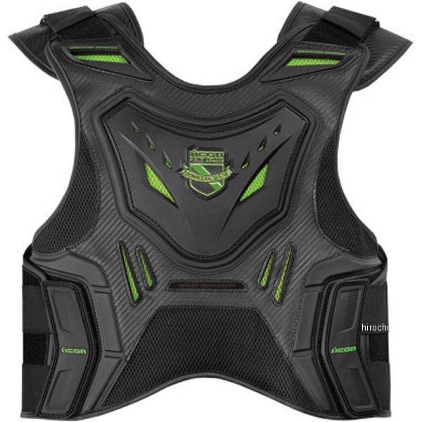 【USA在庫あり】 アイコン ICON ベスト アーマー STRYKER 緑 L-XLサイズ (男女共用) 2701-0615 HD店