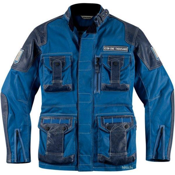 アイコン ICON ジャケット BELTWAY 青 Sサイズ 2820-2520 HD店