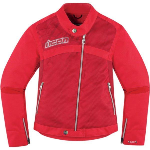 28220590 アイコン ICON ジャケット HELLA2 レディース 赤 Lサイズ 2822-0590 HD店