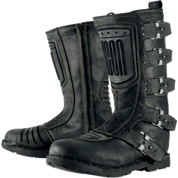 【メーカー在庫あり】 アイコン ICON ブーツ ELSINORE レディース 黒 9.5サイズ 25.5cm 3403-0395 HD店