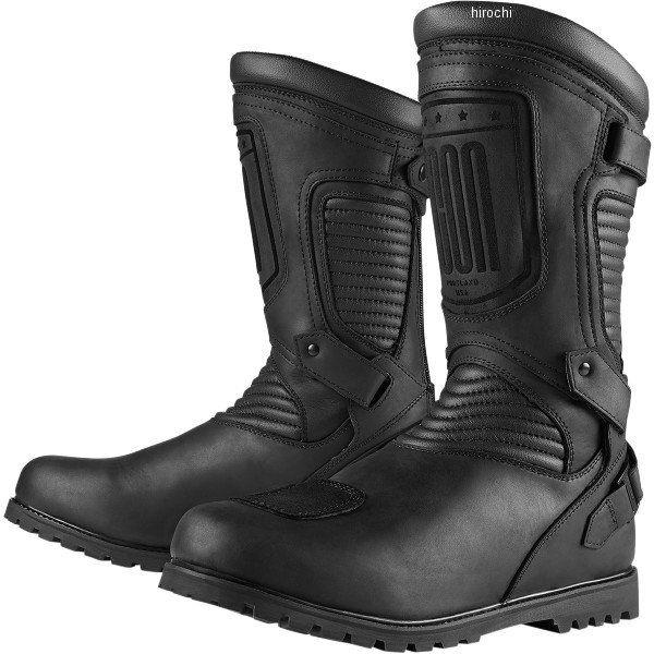 【メーカー在庫あり】 アイコン ICON ブーツ CE PREP 黒 12サイズ 30cm 3403-0648 HD店