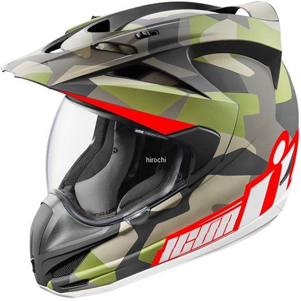【USA在庫あり】 アイコン ICON フルフェイスヘルメット Variant Deploy カモフラージュ XSサイズ (53cm-54cm) 0101-9164 HD店