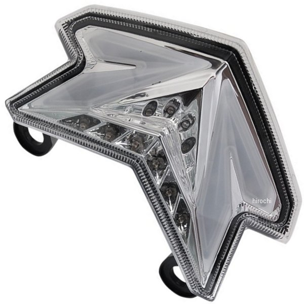 【USA在庫あり】 Moto MPH LEDテールライト クリア 13年-14年 ニンジャ ZX-6R 2010-1129 HD店