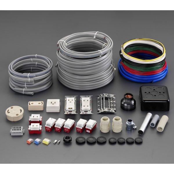 【メーカー在庫あり】 エスコ ESCO 電気工事士技能試験 部材セット 000012262405 HD