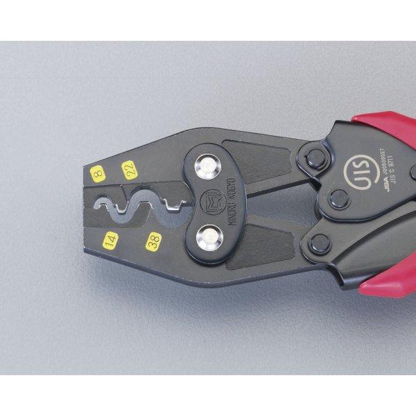 【メーカー在庫あり】 エスコ ESCO 8.0-38m2 圧着ペンチ(裸端子用) 000012209121 HD