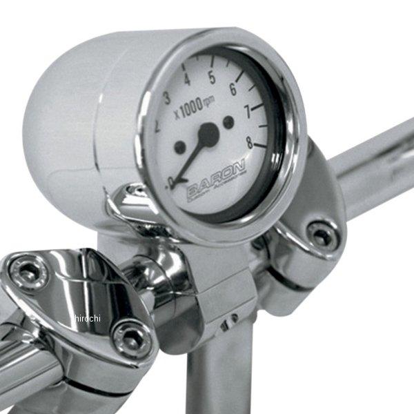 【USA在庫あり】 バロン BARON 電子タコメーター 8000rpm 1.5インチ(38mm)ハンドルパー 白 2211-0082 HD店